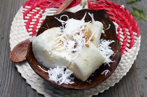 Khoai mì hấp nước cốt dừa