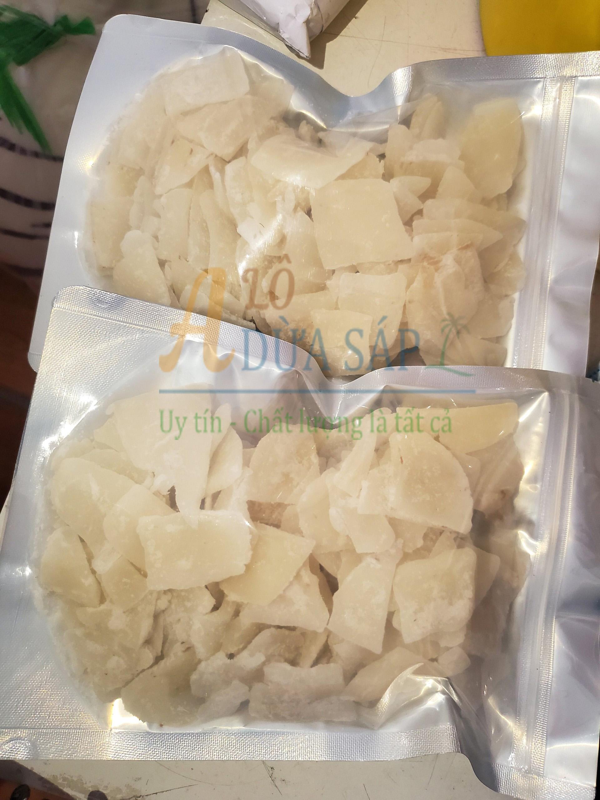 Mứt dừa sáp được đóng gói an toàn và đảm bảo vệ sinh