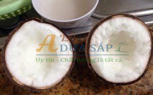 Dừa sáp nguyên liệu tươi