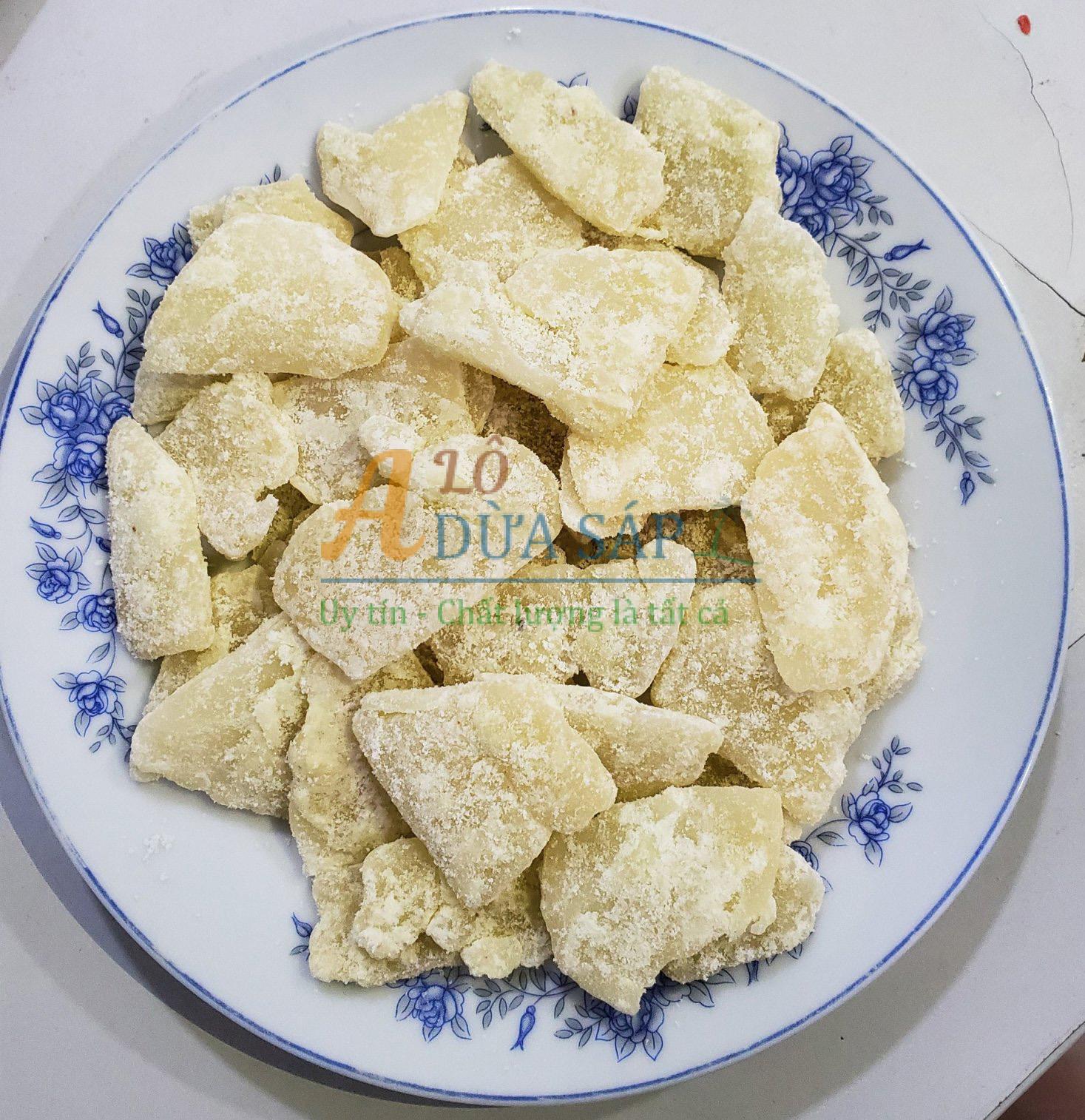 Mứt dừa sáp đường phèn ít ngọt không chất bảo quản